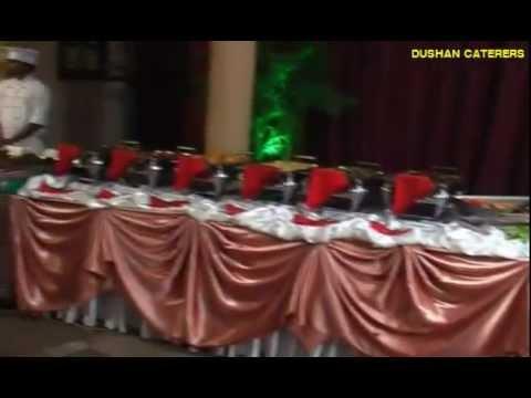 Buffet Arrangement YouTube - Catering buffet table setup