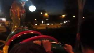 Dragon Roller Coaster Nightime POV @ Zemun Kej, Belgrade, Serbia