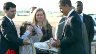 Raw Video: Obama Gets Size 23 Gift From Shaq
