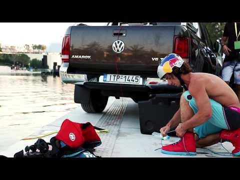 Wakeboarding show by Nikolas Plytas at Stavros Niarchos Foundation.