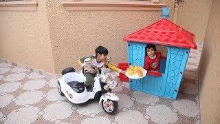 الياس فتح مطعمه الجديد داخل الكوخ وزياد يوصل الطلبيات !!