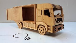 Man 12 Ton Truck -  Wooden Car Model