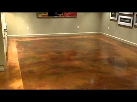 floors concrete dye behr stain application video colors home depot