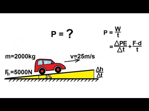 Physics - Mechanics: Work, Energy, and Power (15 of 20) Driving UP A Hill With Friction