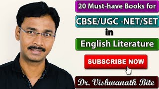 20 Must-have Books for CBSE UGC NET SET SLET JRF in English Literature