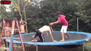 Trampoline Wrestling: KBW- AK 47 vs. Pacman (Non-title)