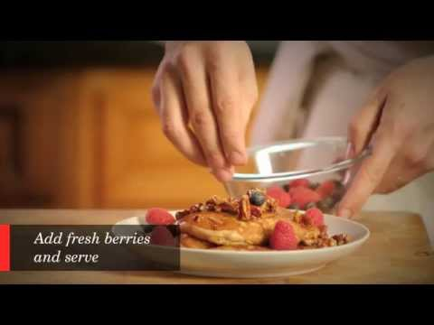 Steel Cut Oatmeal Pancakes with Fresh Berries Recipe - Cuisine Solutions