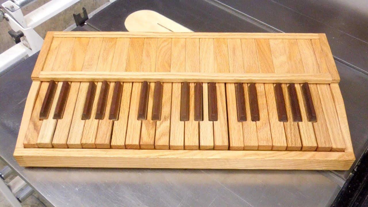 Wood Keyboard - Building It - YouTube