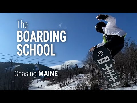 Chasing Maine: Inside look at the Carrabassett Valley Academy snowboarding program