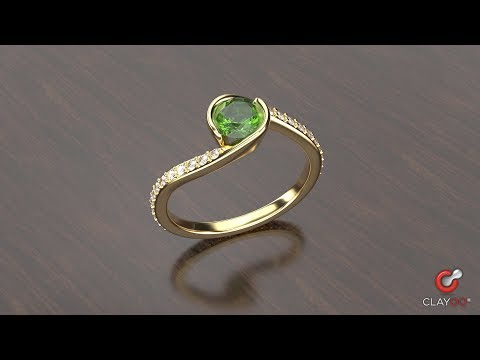 Step-by-step video showing how to design Bypass Ring with Clayoo and RhinoGold.