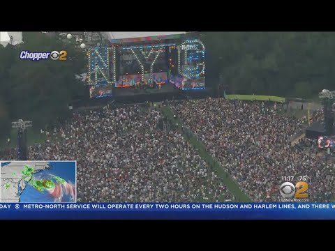 New York City Homecoming Concert In Central Park Cut Short By Severe Weather