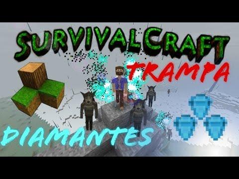 Survivalcraft Trampa eléctrica para Hombres Lobo Conseguir Má Diamantes Tutorial