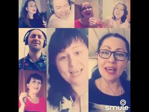 Поем хором -  Мы желаем счастья вам!