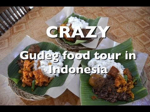 Gudeg food tour in Yogyakarta, Indonesia