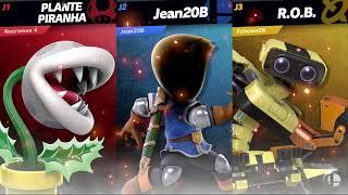 Super Smash Bros. Ultimate - Necromos 4 vs Jean20B vs Félicien2B