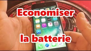 Comment économiser la batterie iphone tuto astuces