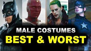 MCU vs DCEU Male Costumes - Ben Affleck Batman, Jared Leto Joker, Ezra Miller Flash
