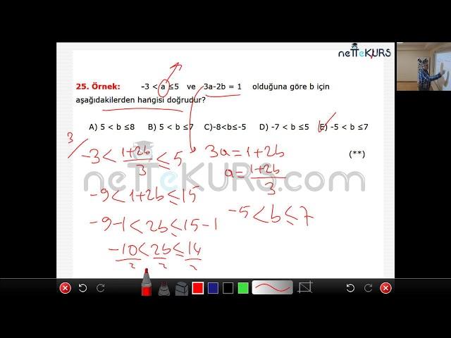 nettekurs.com Online TYT Kursu Matematik Dersleri - 1 / Basit Eşitsizlikler
