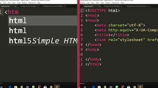 HTML5 and CSS3 Autocomplete Package | HTML and CSS Autocomplete Package for Sublime Text 3