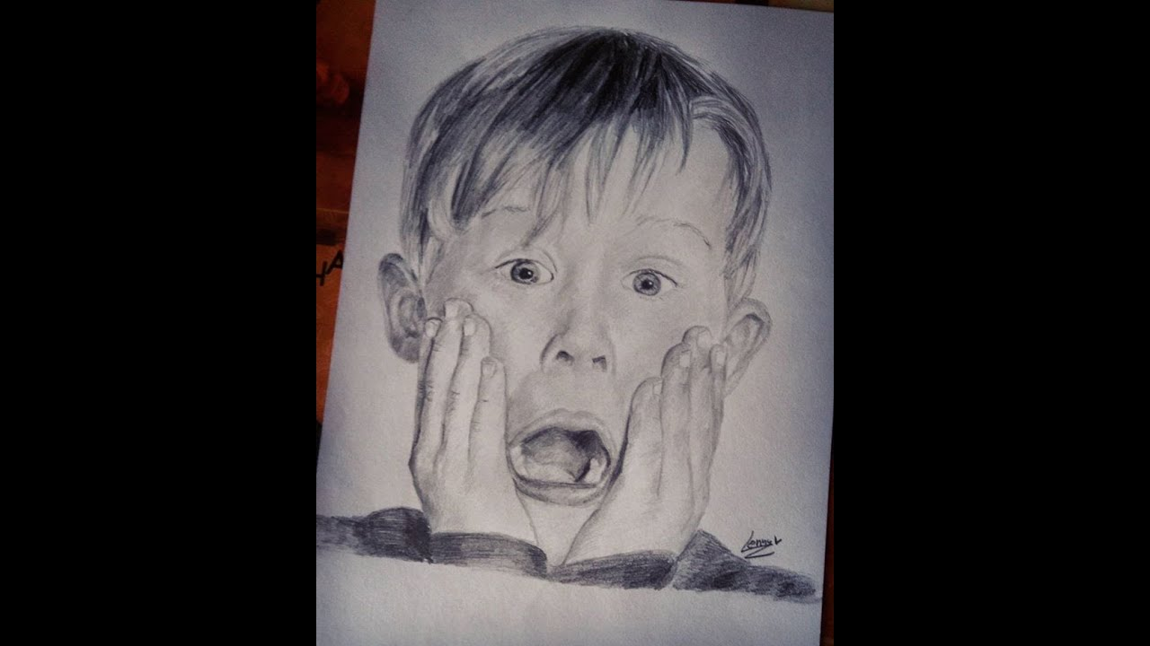 Drawing Kevin McCallister (Home Alone) | In Photos - YouTube