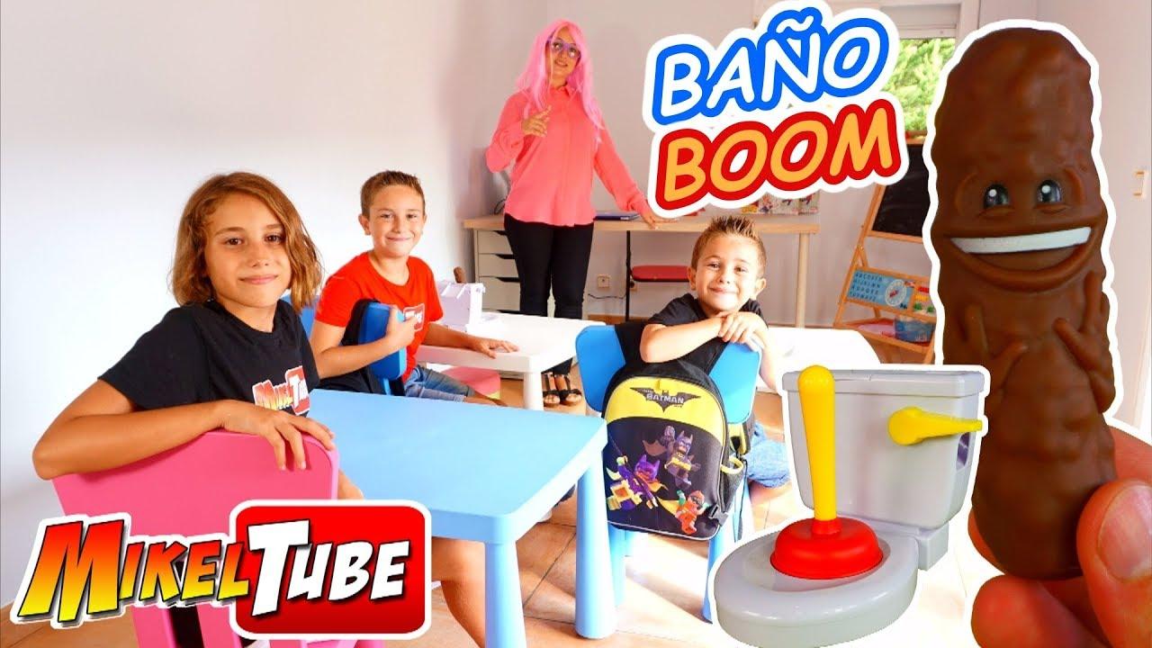 Jugamos En El Colegio Al Juego Bano Boom De Mattel Atrapa La Caca