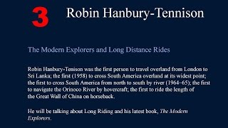 Robin Hanbury-Tenison- Royal Geographical Society, Endeavours 2