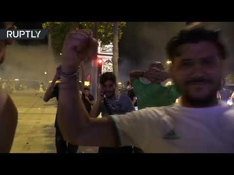 مواجهات بين الشرطة الفرنسية ومشجعي الجزائر تعكر صفو الاحتفالات  - 10:53-2019 / 7 / 20