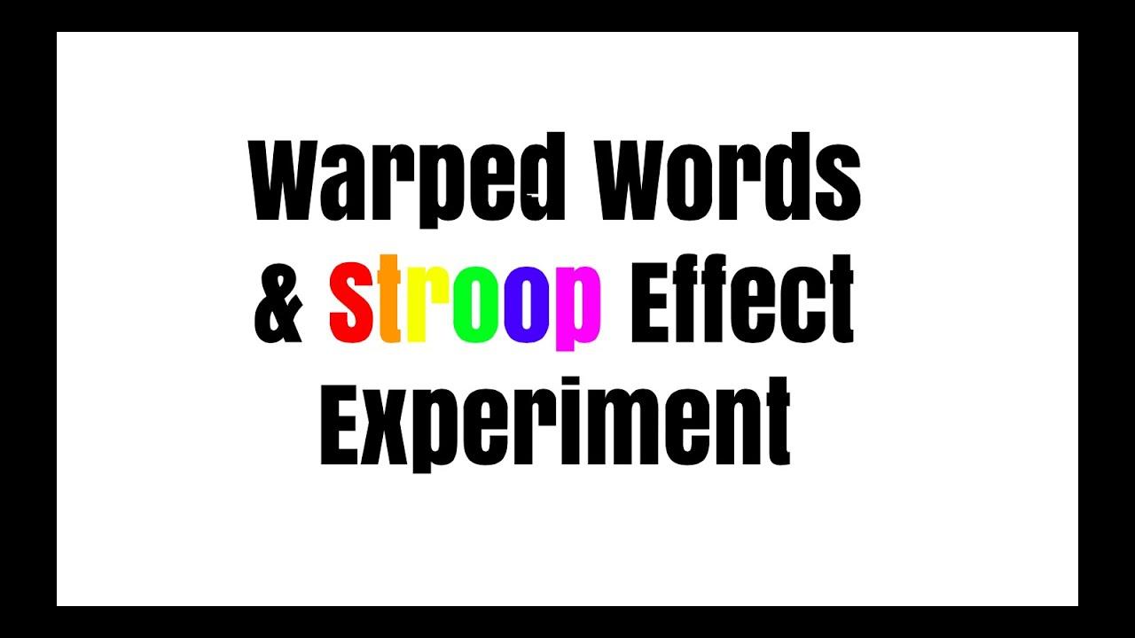 stroop effect ia psychology
