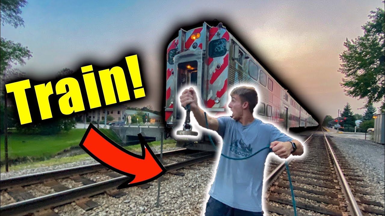 Magnet Fishing Gone Terribly Wrong... (Almost Got Hit By A Train)