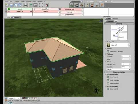 3d home design by livecad tutorials 15 roof youtube. Black Bedroom Furniture Sets. Home Design Ideas