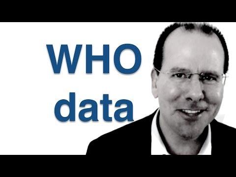 World Health Organization data - using a pivot table to make sense of it