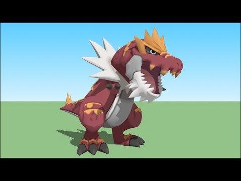 Minecraft : POKEMON DA SORTE DARK - TYRANTRUM vs GARCHOMP ‹ MayconLorenz ›