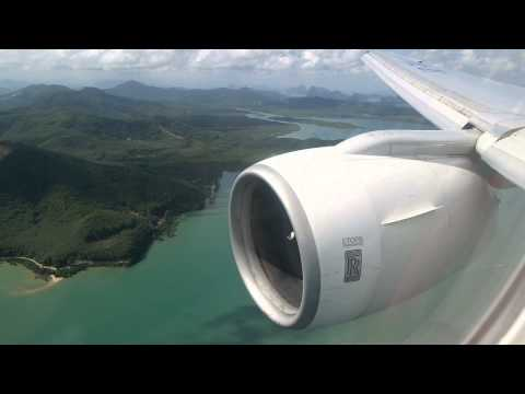 Thai Airways Landing in Phuket (B777-300)