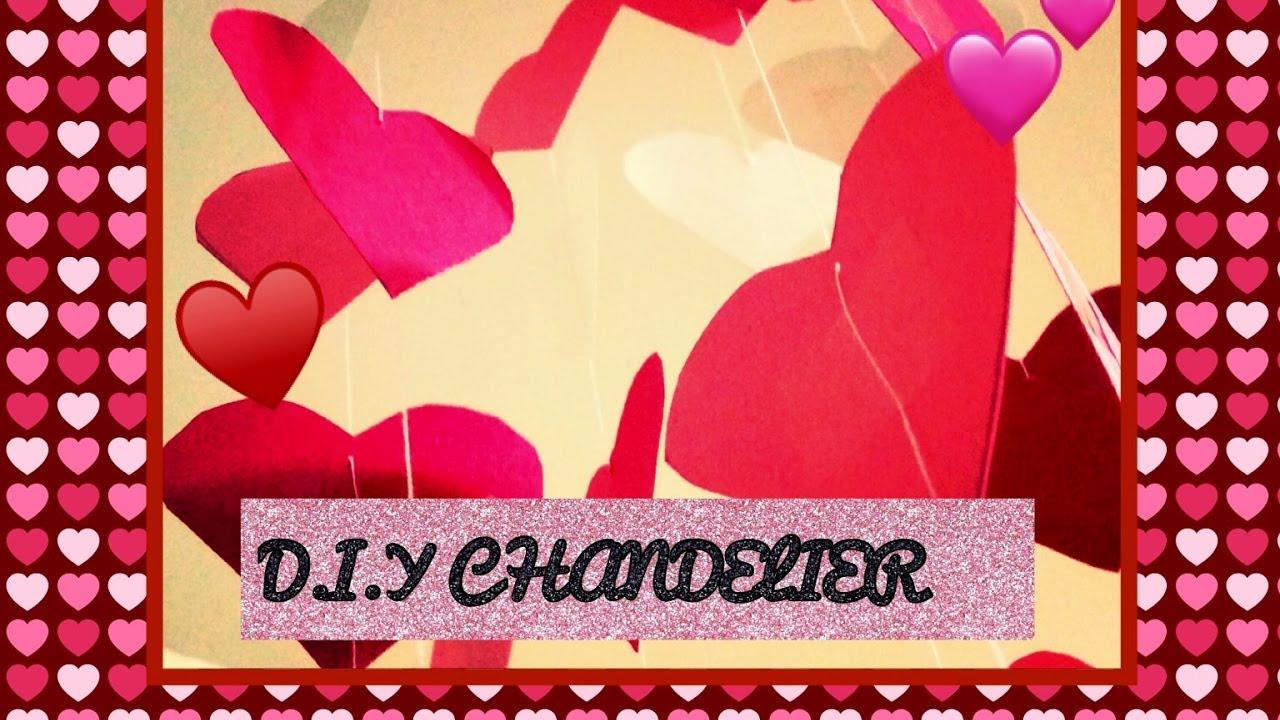 Diy paper heart chandelier valentines day crafts part 1 youtube diy paper heart chandelier valentines day crafts part 1 arubaitofo Image collections