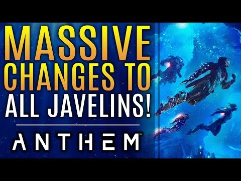 Anthem - MASSIVE Changes To EVERY Javelin!  This Is BIG!  New Patch Notes for Update 1.0.4!