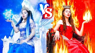 Hot vs Cold/ Princess on Fire vs Icy Princess