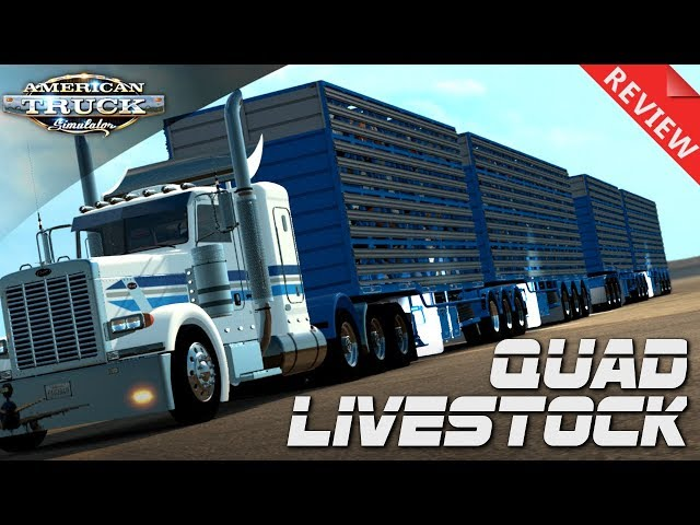 INSANE LIVESTOCK HAULER !! | SPOTLIGHT AND REVIEW | AMERICAN TRUCK SIMULATOR