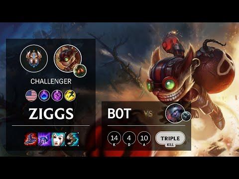 Ziggs Bot vs Tristana - NA Challenger Patch 10.18