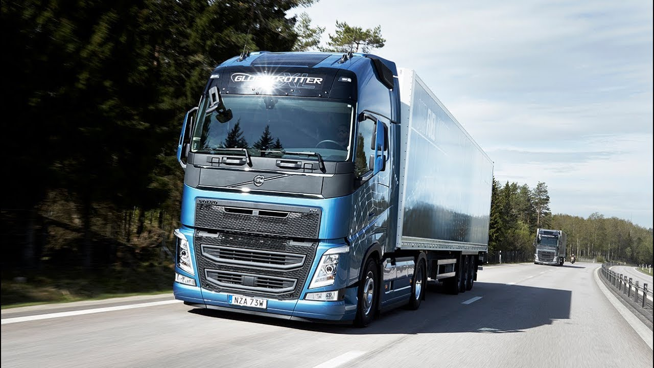 Volvo Trucks Journalists Test Drive The New Volvo Fh With I Save Youtube