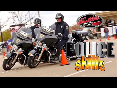 Police Motorcycle  Motor Cops Own Skills Course  MCrider