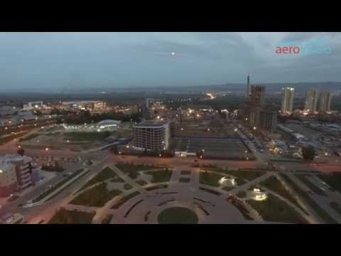 Авто парковка ул. Октябрьская 4-1, г. Красноярск. съемка AeroVideo (аэроВидео)