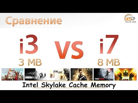 Как влияет объем кэш-памяти на производительность в играх? Intel Skylake: 3 MB vs 8 MB Cache