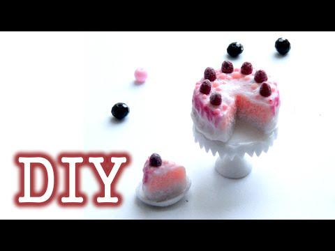 DIY Dollhouse food  | Miniature Sweet Cake - Polymer Clay Tutorial