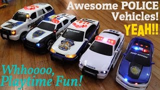 Awesome Children's Toys: Battery Operated POLICE Toy Cars and RC Playtime w/ Hulyan & Maya thumbnail