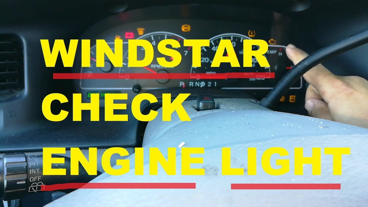 How To Reset Ford Windstar Check Engine Light Cel P0457