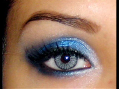 Leona lewis forgive me inspired bright blue smokey eyes for Smokey eyes blau