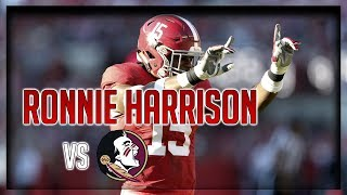 Ronnie Harrison Highlights vs Florida State // 5 Tackles, 1 Sack // 9.02.17