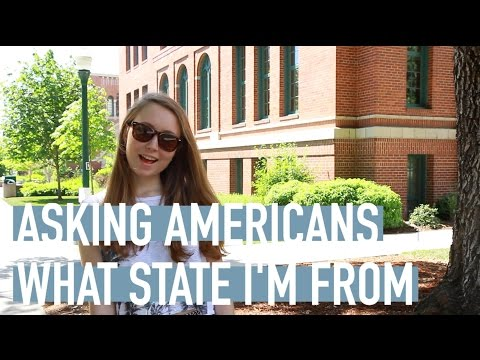 Russian girl asks Americans to guess what state she is from