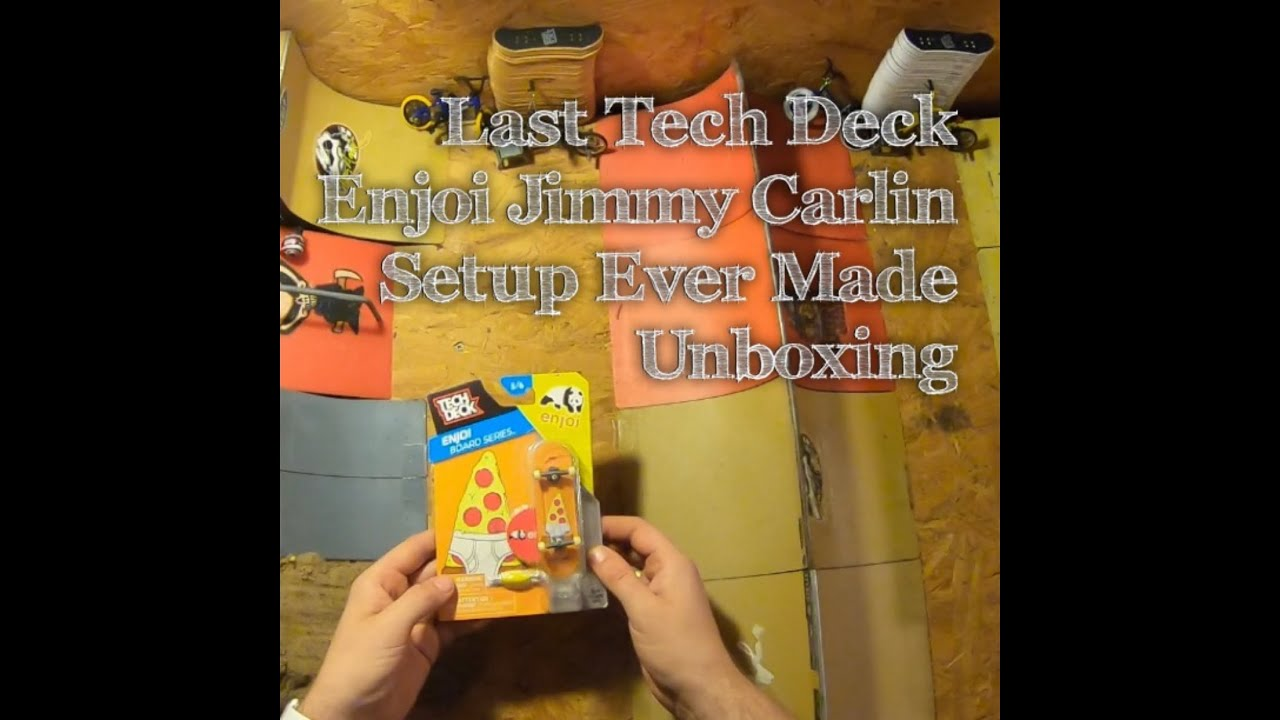 Last Tech Deck Enjoi Jimmy Carlin Setup Ever Made Unboxing In 4K + Grab Trick Tutorial