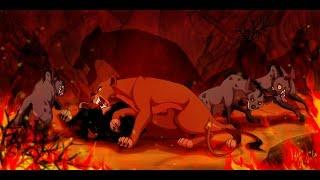 Zapętlaj Walt Disney   The Lion King   Scar Death   Speed Painting   Digital Art   JR-JULIA